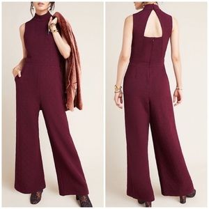 New Anthropologie Eva Franco Mock Neck Jumpsuit